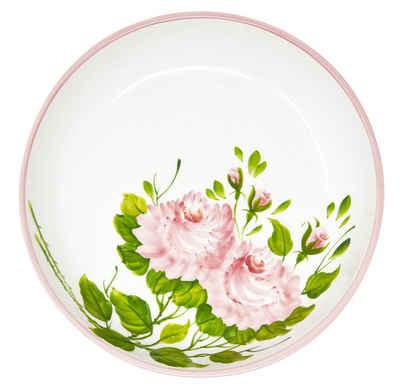 Lashuma Servierschale »Rose«, Keramik, Große Nudelschale, Keramikschüssel Ø 28 cm
