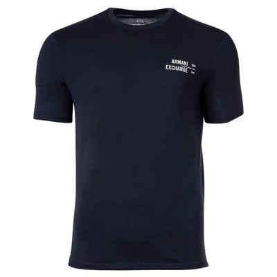 ARMANI EXCHANGE T-Shirt »Herren T-Shirt - Schriftzug, Rundhals, Cotton«