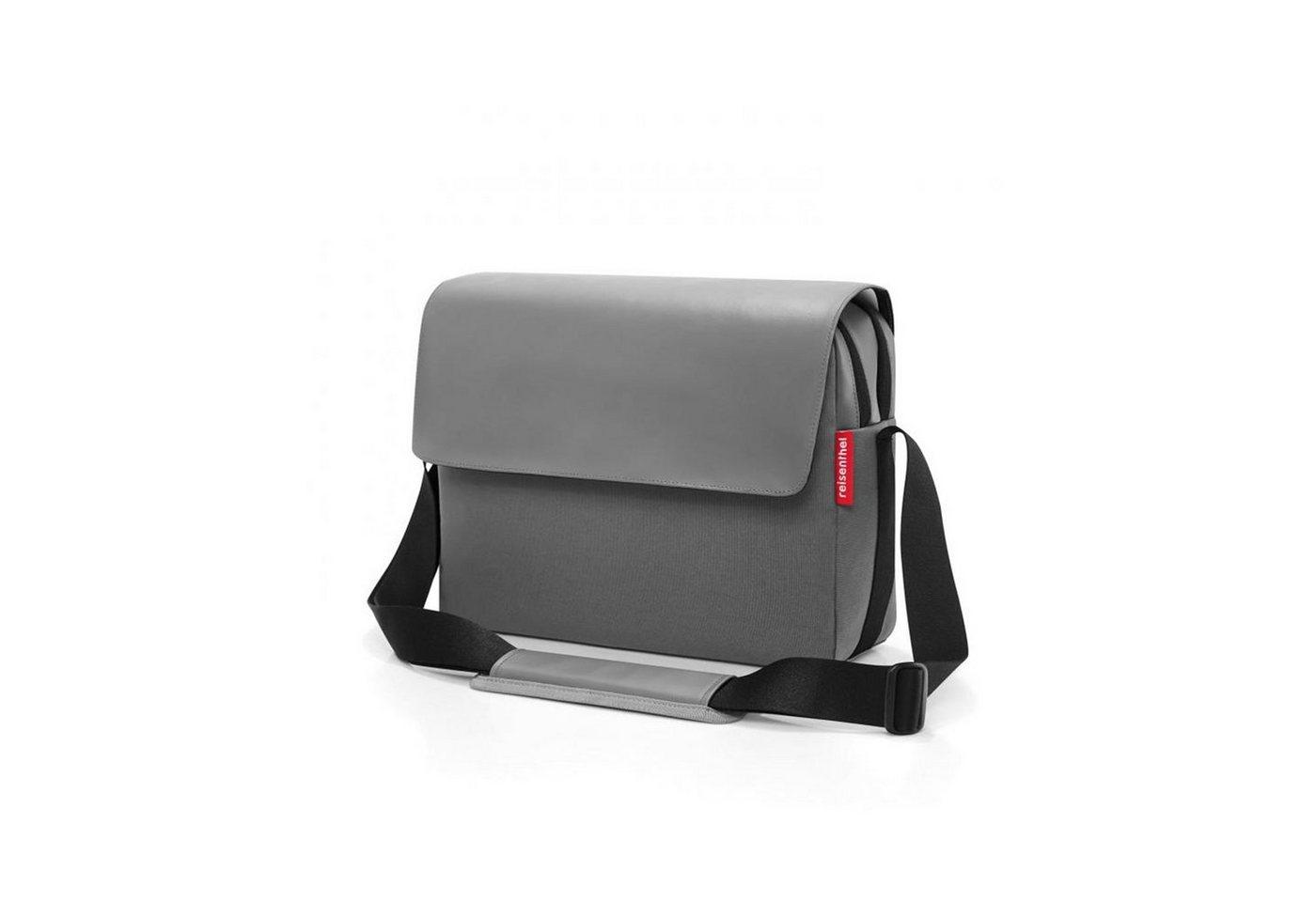 reisenthel® -  Messenger Bag »Kuriertasche courierbag 2«, Moderne Optik durch wechselnde Oberflächenstruktur, Frontflap mit 2 Magneten verschließbar, Rückseitiges Reißverschlussfach, 2 Hauptfächer mit Reißverschluss: hinteres Fach gepolstert und perfekt für