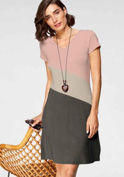 Boysen's Jerseykleid im color blocking