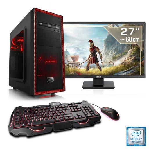 """CSL Gaming PC Set i7-9700F, GTX 1650, 16GB DDR4, SSD, 27"""" TFT »Speed T7181 Windows 10«"""