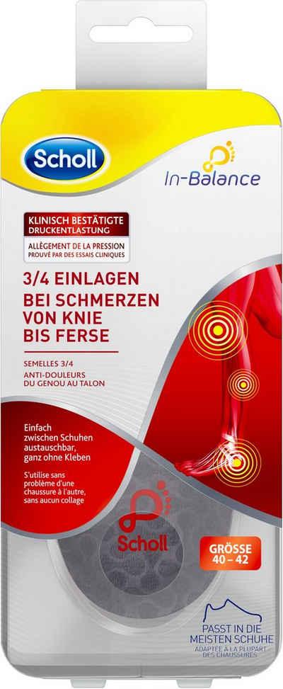 Scholl Einlegesohlen »In-Balance 3/4 bei Schmerzen von Knie bis Ferse«, in 3 Größen S (37-39.5), M (40-42) und L 42.5-45)