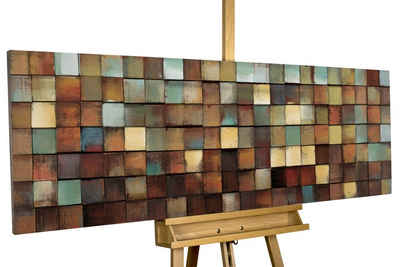 KUNSTLOFT Holzbild »More is more«, handgefertiges Wandbild aus Holz