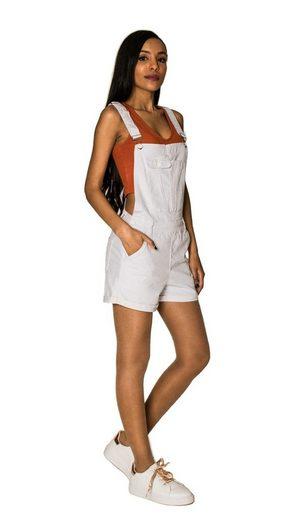 Nina Carter Jeansshorts »3304« Damen Jeans Latzshorts SELIN