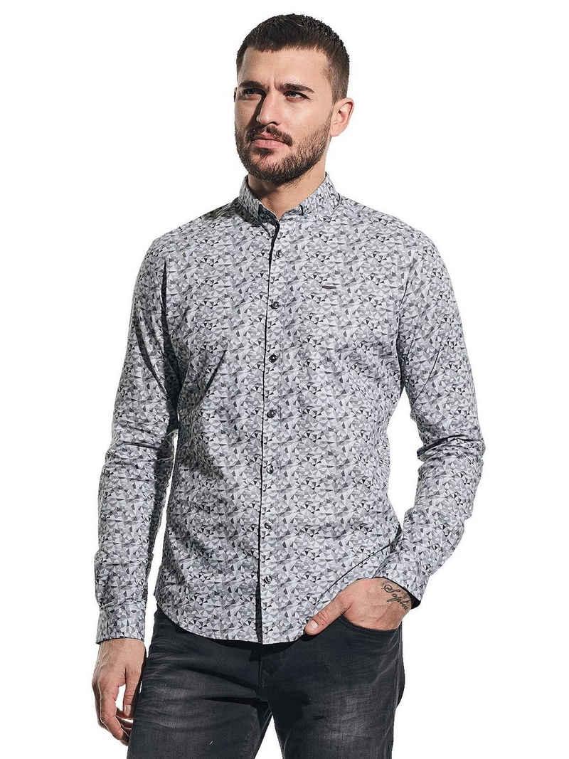 emilio adani Hemd »Langarmhemd mit grafischem Muster«