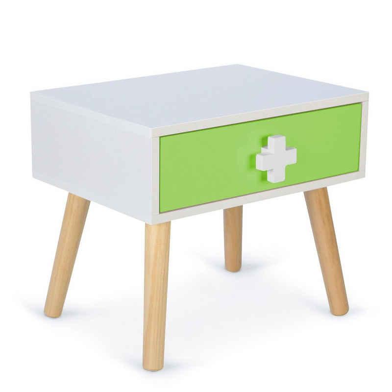 Homestyle4u Nachttisch »Nachtkommode für Kinder 1 Schublade«