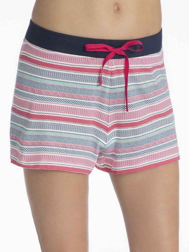 Esprit Homewearhose »Shorts, gemustert«