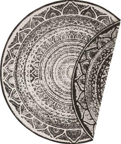 Teppich »Siruma«, bougari, rund, Höhe 5 mm, Wendeteppich, In- und Outdoor geeignet, Wohnzimmer