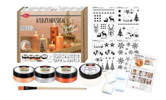 Viva Decor Blattgold »Kerzendesign-Set Shining Christmas«, 14-tlg