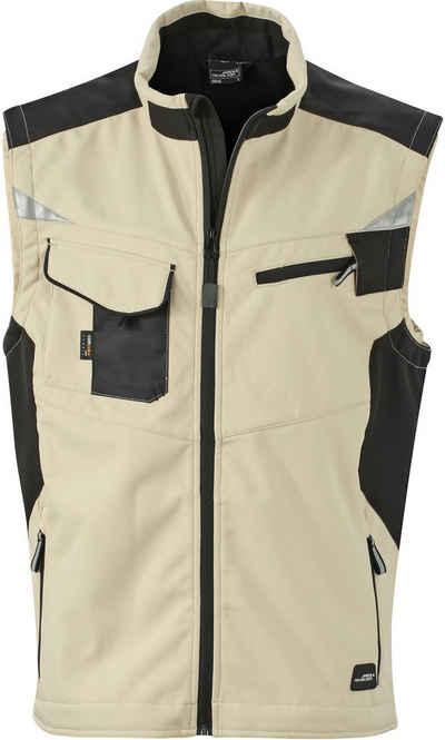 James & Nicholson Softshellweste »Workwear Sommer Softshell Weste FaS50845 bis 6XL«