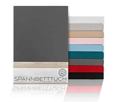 Spannbettlaken »BEAUTEX Spannbetttuch Bettlaken aus gekämmter Baumwolle, Premium Jersey 160g/m², Größe und Farbe wählbar«, Beautex