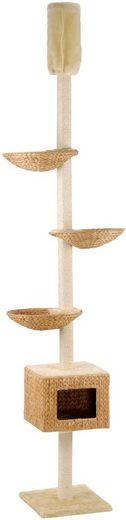 SILVIO DESIGN Kratzbaum-Deckenspanner »Kletterbaum Casa«, B/T/H: 70/36/230-260 cm, beige