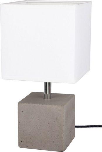 SPOT Light Tischleuchte »STRONG«, Echtes Beton - handgefertigt, Lampenschirm aus Stoff, Naturprodukt - Nachhaltig, Made in Europe