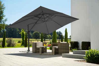 Schneider Schirme Ampelschirm »Rhodos Grande«, LxB: 300x400 cm, mit Schutzhülle und Schirmständer, ohne Wegeplatten