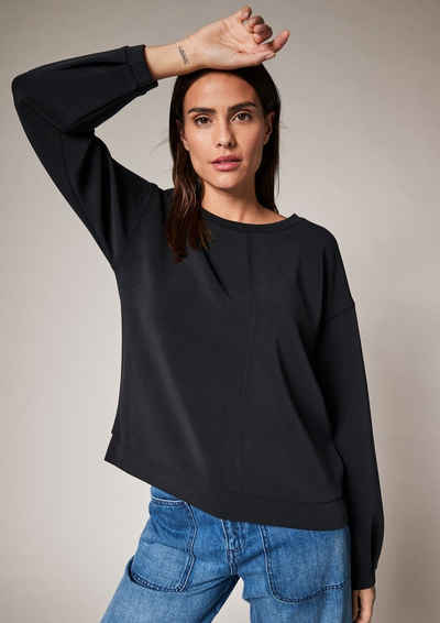 comma casual identity Sweatshirt »Sweatshirt aus Scuba-Jersey« (1-tlg) Ziernaht