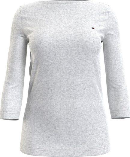 Tommy Hilfiger 3/4-Arm-Shirt »BOAT NECK TEE 3/4« mit Tommy Hilfiger Logo-Flag auf der Brust