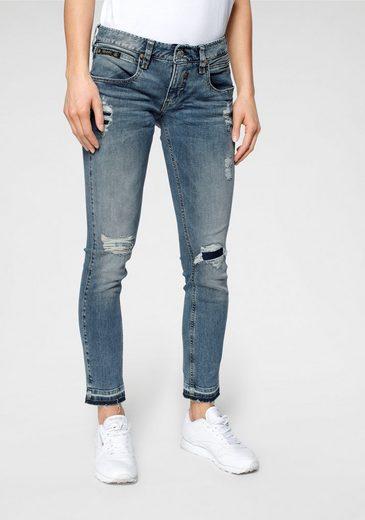 Herrlicher 7/8-Jeans »TOUCH CROPPED« mit Cut Off Säumen und Destroyed Effekten