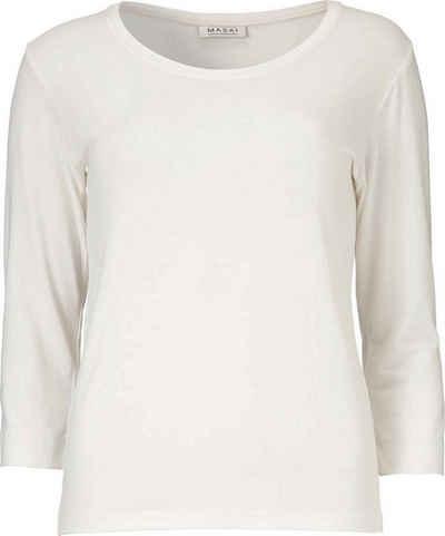 Masai Langarmshirt »Cream« In leichter, weich fließender Viskose-Mischqualität