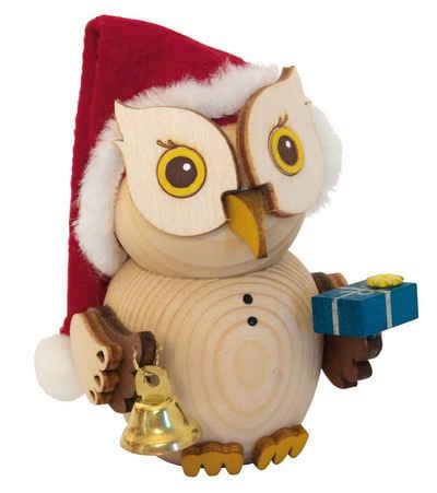 Kuhnert Sammelfigur »37314, Mini Eule Weihnachtsmann«, Holzfigur, Made in Germany