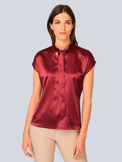 Alba Moda Blusenshirt aus reiner Seide im Vorderteil