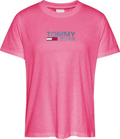 Tommy Jeans Rundhalsshirt »TJW Reg Metallic Corp Logo Tee« mit metalicfarbenen Tommy Jeans Logo-Print