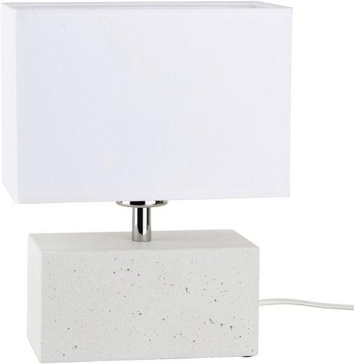 SPOT Light Tischleuchte »STRONG DOUBLE«, Wertige Materialien: echtes Beton und Leuchtenschirm aus Stoff, Naturprodukt - nachhaltig, Trendiges Design, Made in EU