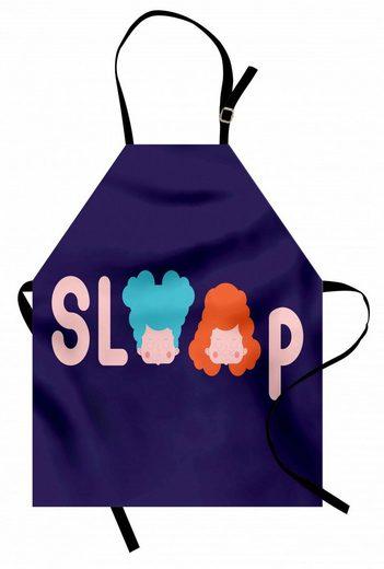 Abakuhaus Kochschürze »Höhenverstellbar Klare Farben ohne verblassen«, Schlafen Letters minimalistisches Design