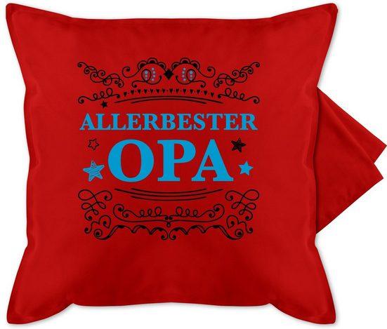 Shirtracer Kissenbezug »Allerbester Opa - Opa Kissen - Bedruckte Kissenhülle Kissen ohne Füllung - Kissen«, Opa Kissen