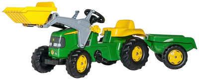 Rolly Toys Trettraktor »John Deere«, mit Trailer und Lader