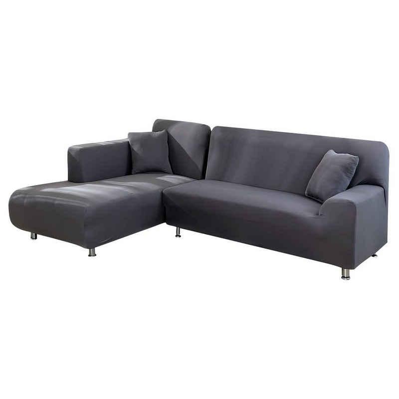 Sofahusse »L Form Stretch-Sofa deckt Möbelbezug, elastische Elasthan, Heimtextilien«, Rosnek