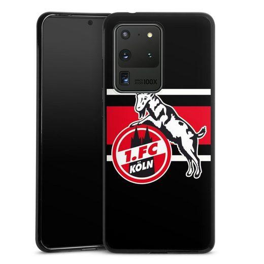 DeinDesign Handyhülle »Colour Stripes 1.FC« Samsung Galaxy S20 Ultra, Hülle 1. FC Köln Offizielles Lizenzprodukt Fußball