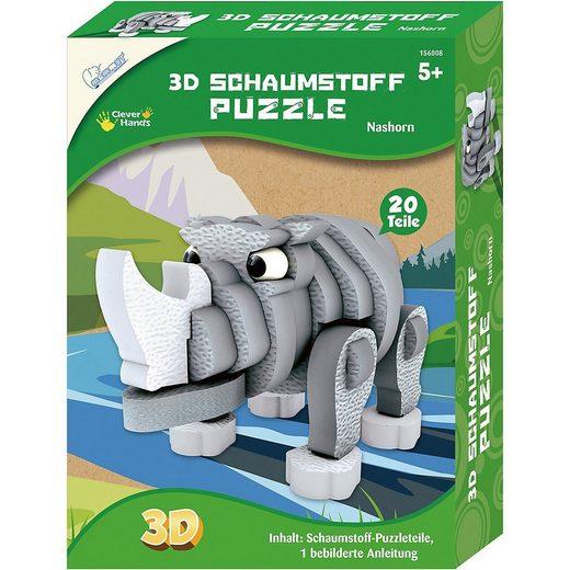 MAMMUT Spiel und Geschenk 3D-Puzzle »3D Schaumstoff Puzzle Nashorn«, Puzzleteile