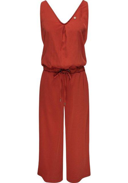 Hosen - Ragwear Jumpsuit »Suky« schicker, langer Damen Overall mit Tunnelzug › rot  - Onlineshop OTTO