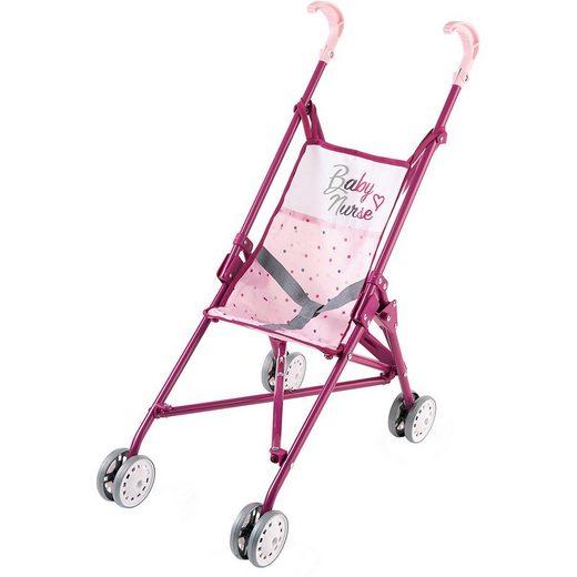 Smoby Puppenwagen »Baby Nurse Puppenwagen zusammenklappbar«