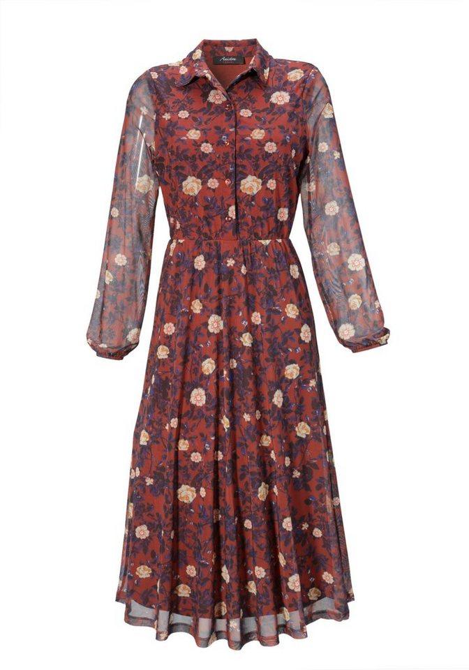 aniston casual -  Blusenkleid mit farbharmonischem Blumendruck - NEUE KOLLEKTION