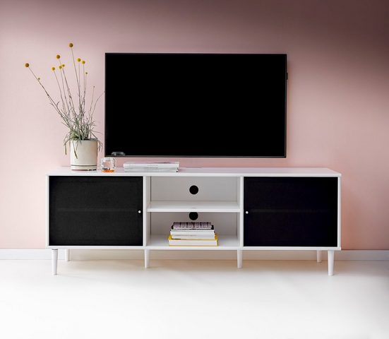 hammel Media-Board »MISTRAL«, Korpus mit glatter Oberfläche, Türen mit Akustikstoff, Danish Design