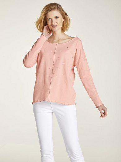 heine CASUAL Sweatshirt mit Strassapplikationen