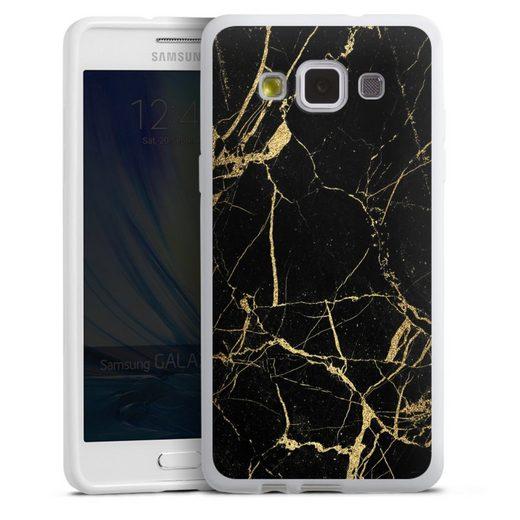 DeinDesign Handyhülle »BlackGoldMarble Look« Samsung Galaxy A5 (2015), Hülle Marmor schwarz Muster