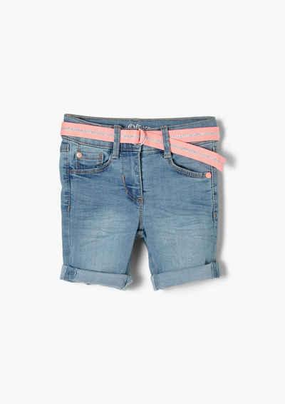 s.Oliver Jeansshorts »Regular: Denim-Shorts mit Gürtel« Glitzer