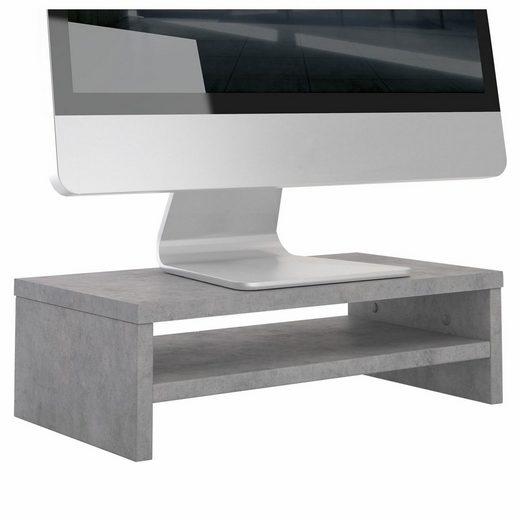 CARO-Möbel Schreibtischaufsatz »SUBIDA«, Monitorständer Bildschirmaufsatz Monitorerhöhung Schreibtisch inkl. Ablagefach