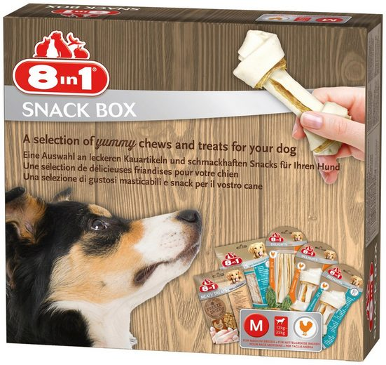 8in1 Hundesnack »Snackbox M«, mit 5 versch. Sorten