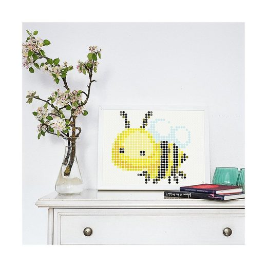 Dot On Malvorlage »dot on art - flowerpower - bee, 30 x 40 cm«