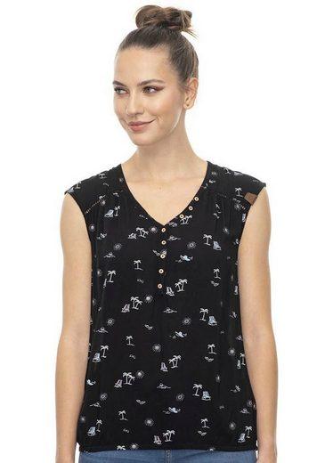 Ragwear Shirttop »SALTY A« mit sommerlichem Palmen-Allover-Druck