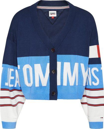 Tommy Jeans Strickjacke »TJW BRANDED CARDIGAN« mit eingestricktem Tommy Jeans Logo-Schriftzug