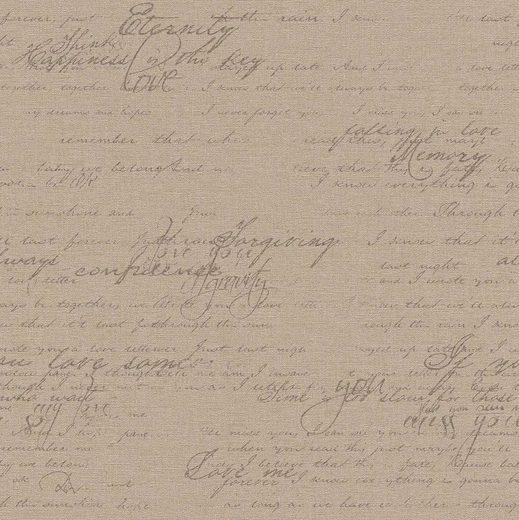 Rasch Vinyltapete »Best of Florentine«, geprägt, gemustert, mit Schrift, (1 St)
