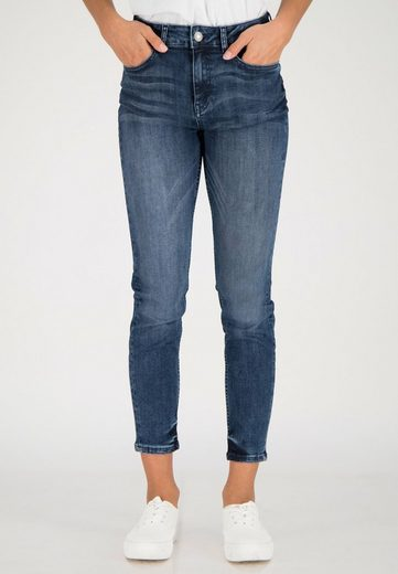 ONE MORE STORY 7/8-Jeans mit ausgefranstem Saum