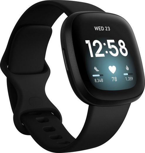 fitbit Versa 3 Smartwatch (4,32 cm/1,7 Zoll, FitbitOS5)