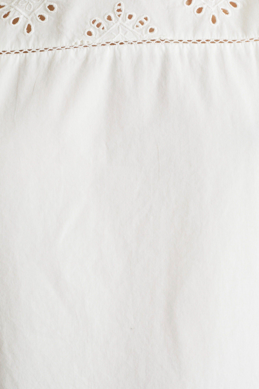 Esprit Shirtbluse mit dekorativen Lochmuster Stickereien
