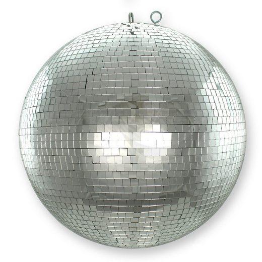 SATISFIRE Discolicht »Spiegelkugel 40cm - silber - Safety - Diskokugel Echtglas - 10x10mm Spiegel PROFI«