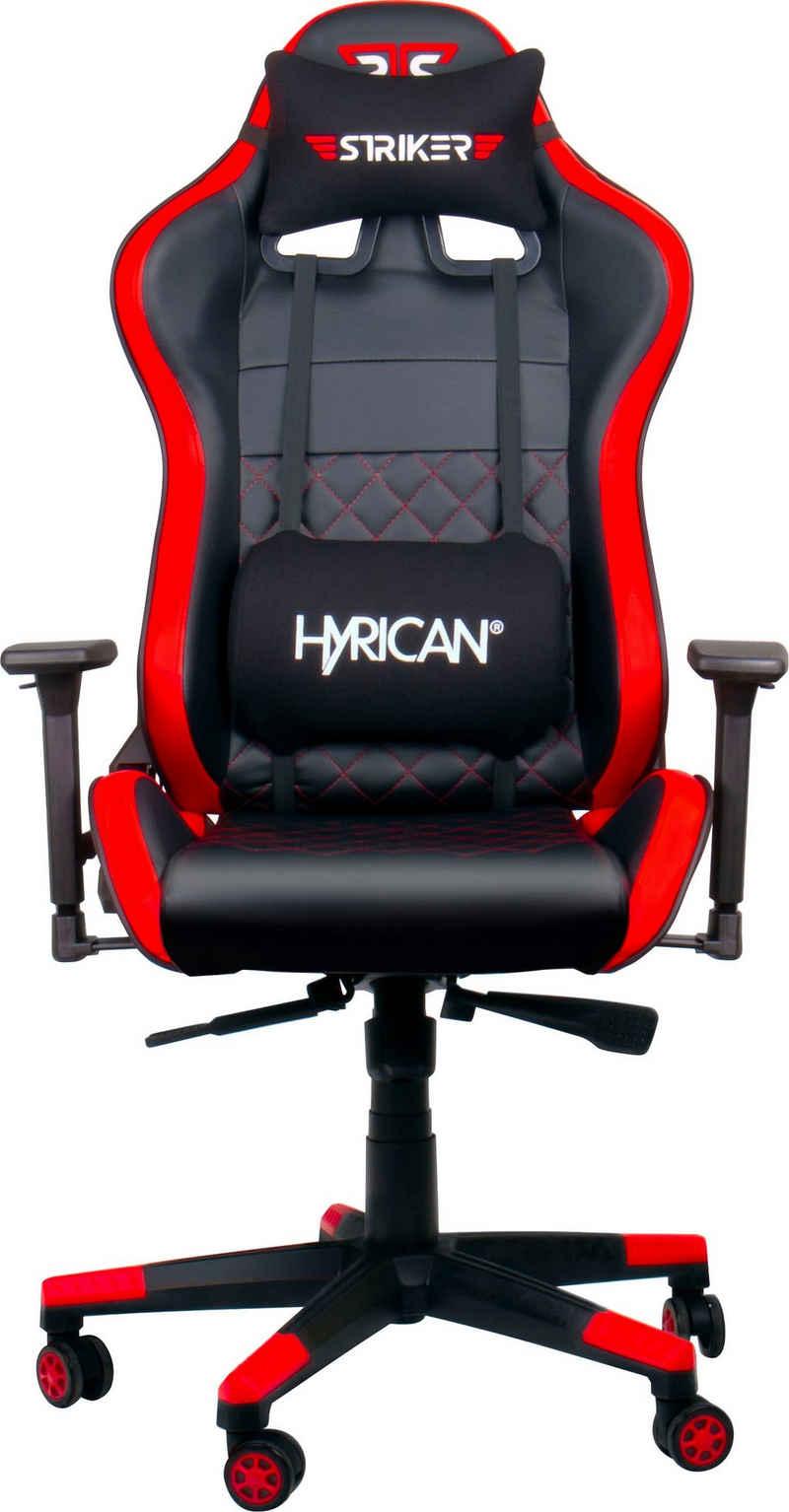 """Hyrican Gaming-Stuhl »Striker """"Code Red XL""""«, ergonomisch, höhenverstellbar, Bürostuhl, Officestuhl, Schreibtischstuhl, Drehstuhl, 3D-Armlehnen, Stahlrahmen"""